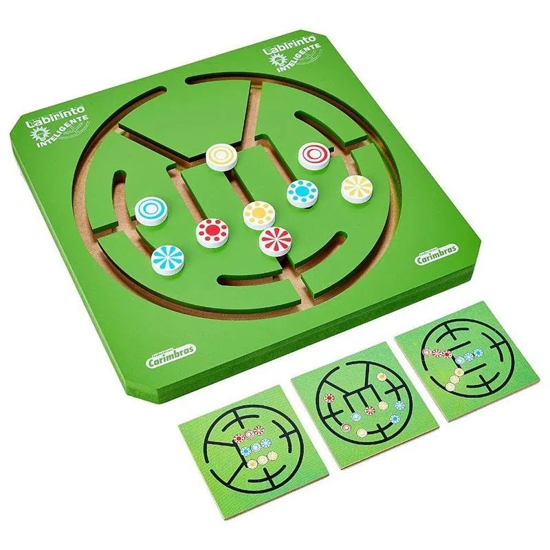 Labirinto Inteligente Brinquedo Educativo de Madeira