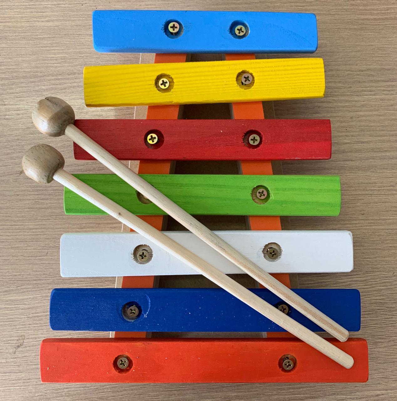 Lira de Madeira Instrumento Musical Infantil