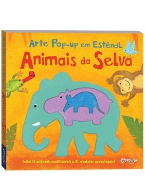 Livro de Arte Pop-up em Estêncil Animais da Selva Catapulta