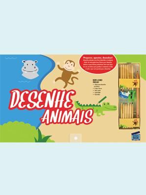 Livro de Desenho Desenhe Animais Bookbox