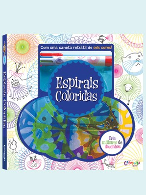 Livro de Desenho e Pintura Espirais Coloridas