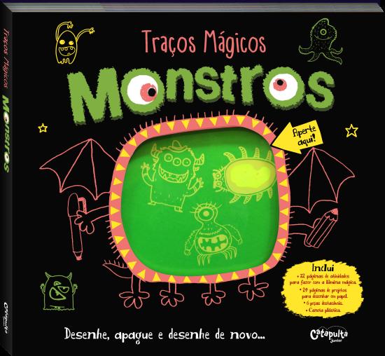 Livro de Desenho Traços Mágicos Monstros