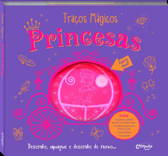 Livro de Desenho Traços Mágicos Princesas