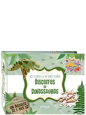 Livro Infantil de Culinária Cozinhe e Decore Biscoitos de Dinossauros