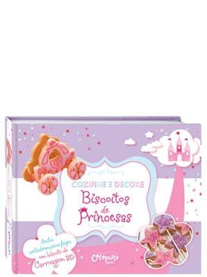 Livro Infantil de Culinária Cozinhe e Decore Biscoitos de Princesas
