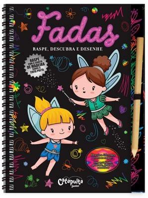 Livro Infantil - Raspe, Descubra e Desenhe Fadas
