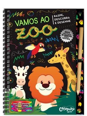 Livro Infantil - Raspe, Descubra e Desenhe Vamos ao Zoo