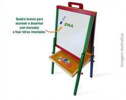 Lousa Portátil Magnética Brinquedo Educativo de Madeira