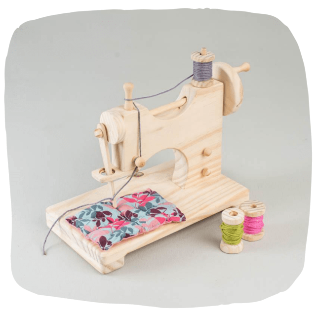 Máquina de Costura Brinquedo de Madeira