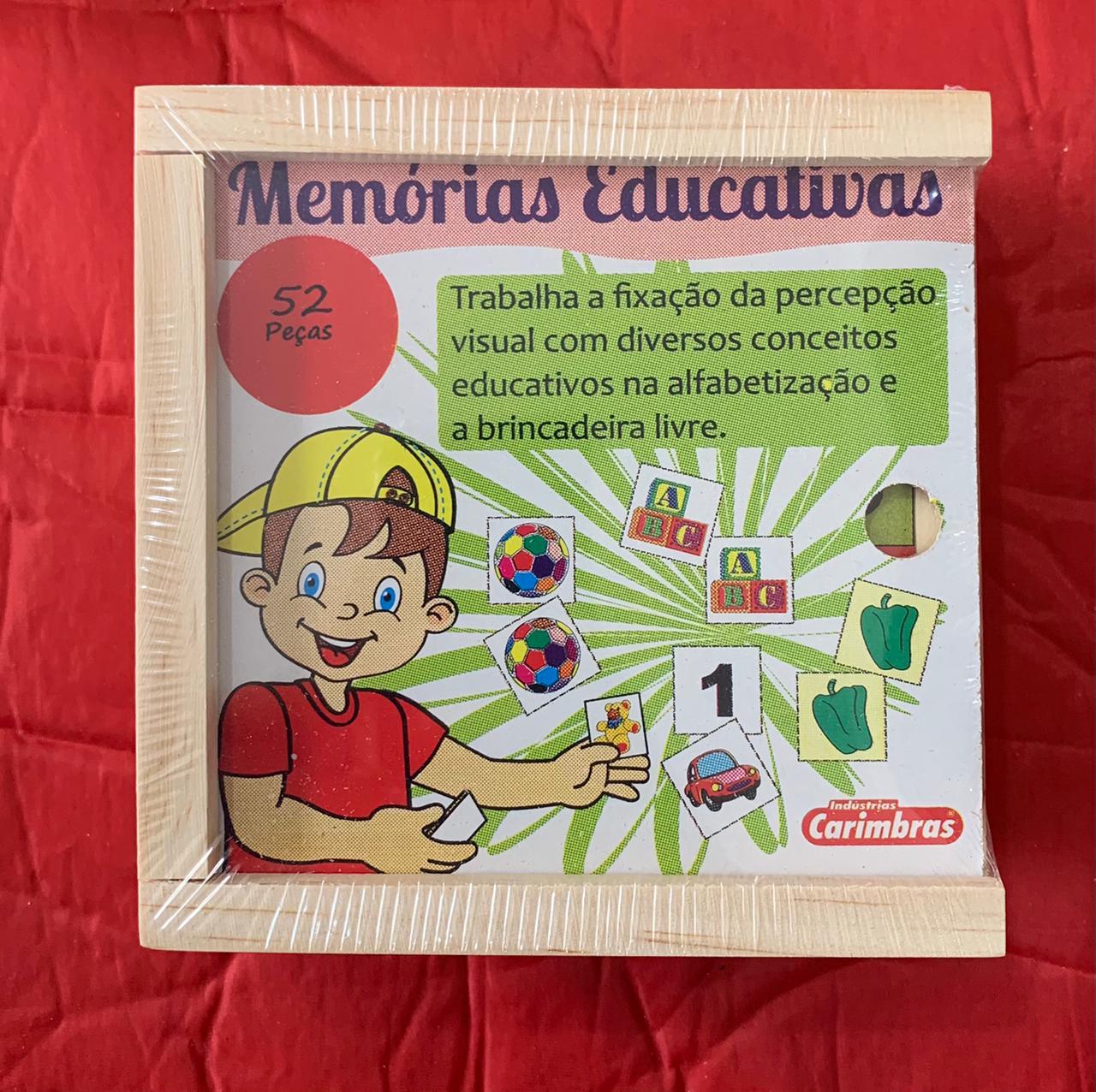 Memória de Figuras e Letras ref 0281 Jogo Educativo de Madeira