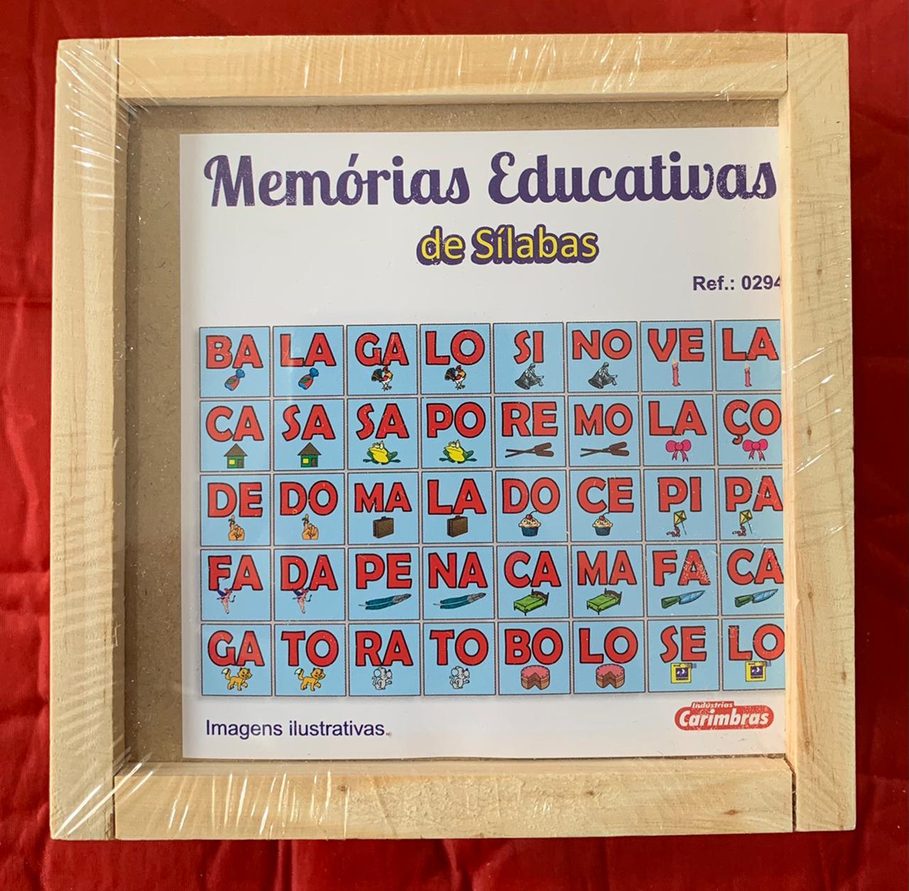 Memória de Sílabas ref 0294 Jogo Educativo de Madeira
