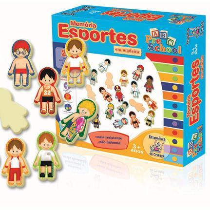 Memória Esportes Brinquedo Educativo de madeira