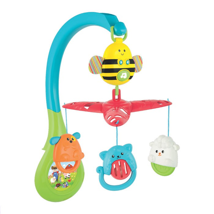 Móbile Abelhinha Musical 3 em 1 WinFun Infant & Toddler