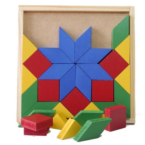 Mosaico Brinquedo Educativo de Madeira