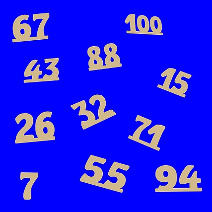 Números Recortados Brinquedo Educativo de Madeira