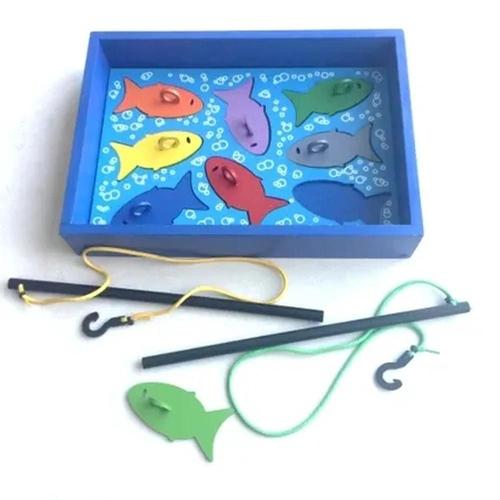 Pesca Esportiva Brinquedo Educativo de Madeira