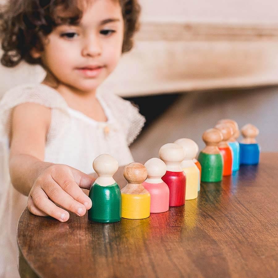 Pessoas Brinquedo de Madeira