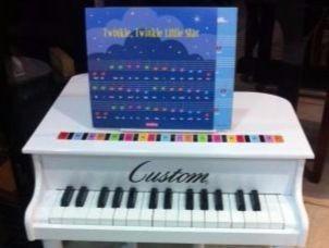 Piano de Madeira Acústico Infantil com 30 Teclas Custom Branco