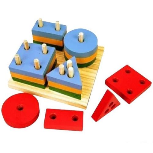 Prancha de Seleção Brinquedo Educativo de Madeira
