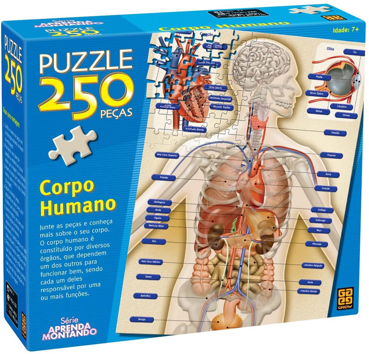 Puzzle 250 peças Corpo Humano Grow