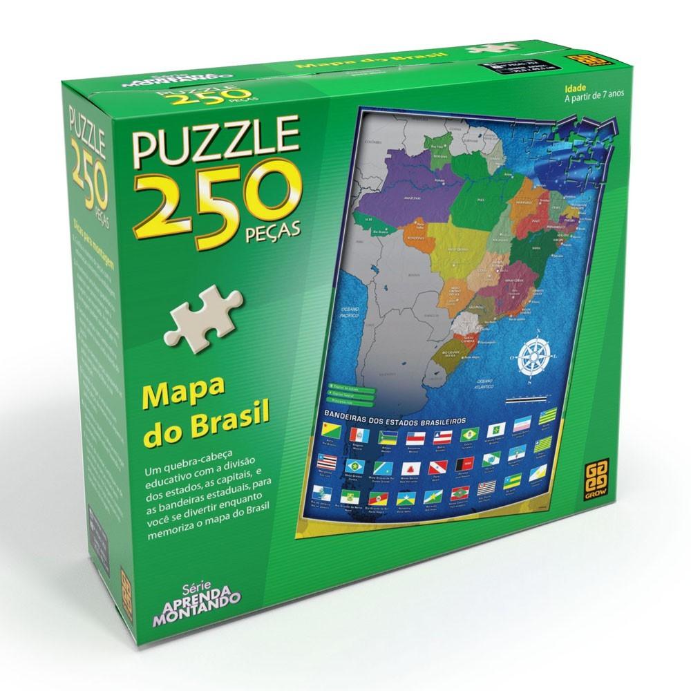 Puzzle 250 Peças Mapa do Brasil Grow