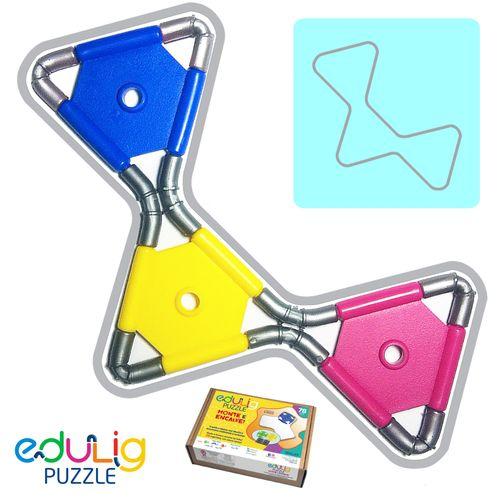 Puzzle 3D Monte e Encaixe-78 Peças e Conexões