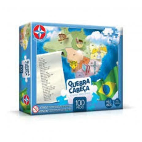 Quebra Cabeça 100 peças Estados Brasileiros Estrela