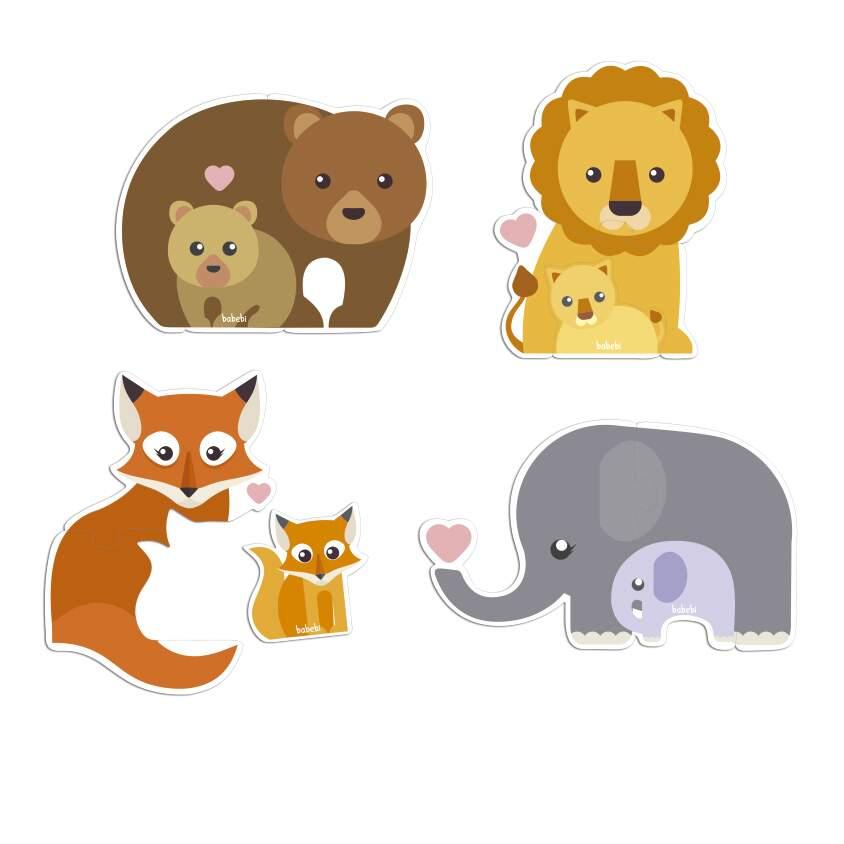 Quebra Cabeça baby animais e filhotes brinquedo educativo
