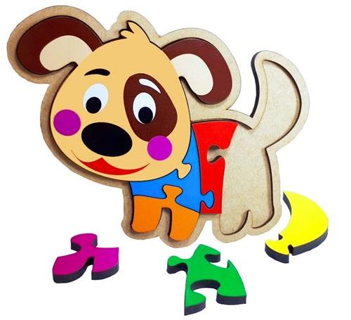 Quebra cabeça Cachorro Brinquedo Educativo