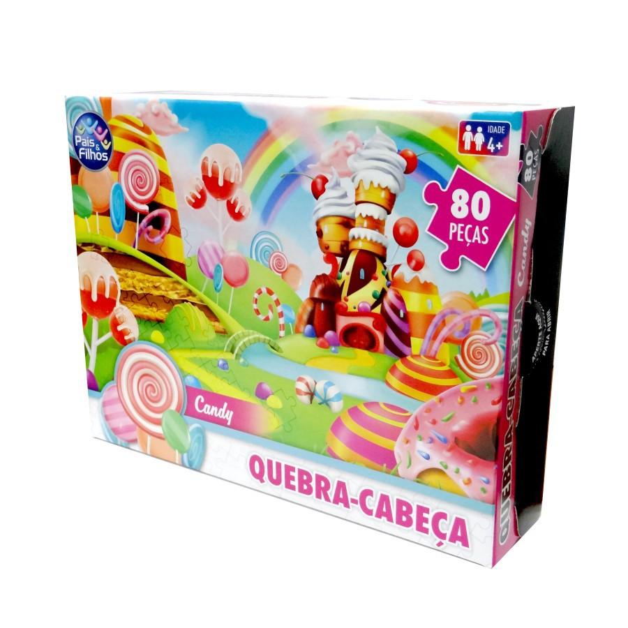 Quebra Cabeça Candy 80 Peças