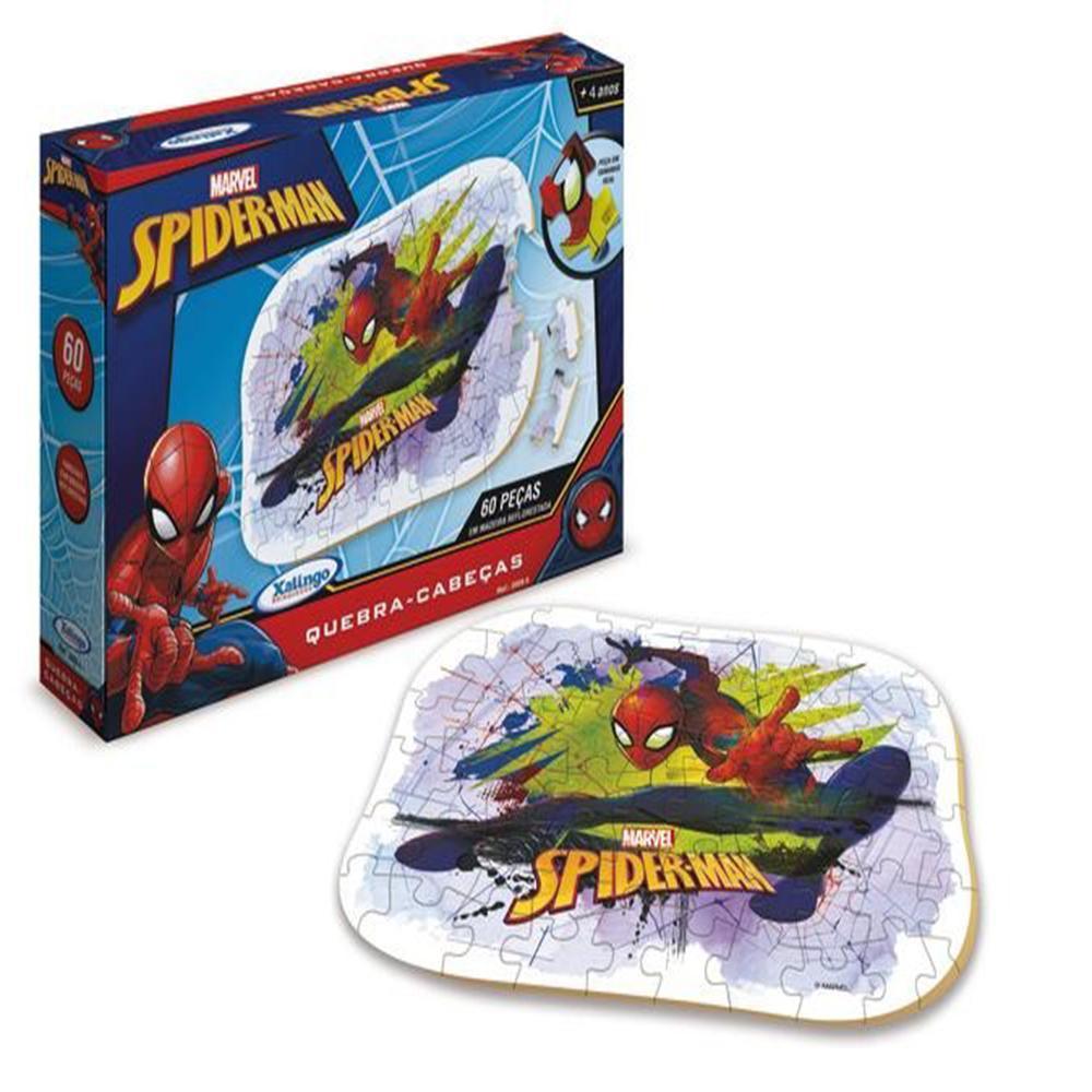 Quebra Cabeça de Madeira 60 peças SpiderMan