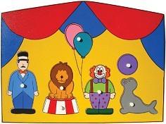 Quebra Cabeça de Madeira com Pinos Grande Circo