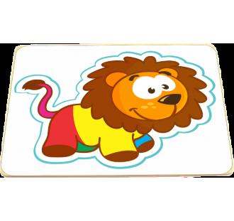Quebra Cabeça de Madeira Placa Leão