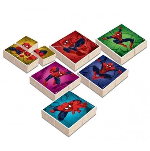Quebra Cabeças de Madeira Blocos Spider-Man Ultimate