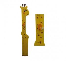 Régua de Madeira para medir Crescimento Girafa