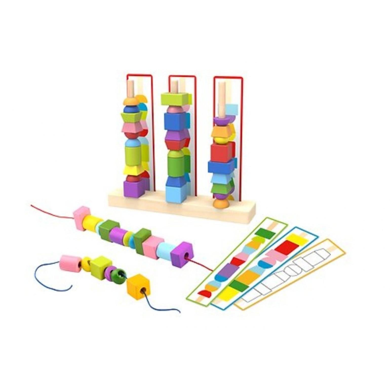 Super Caixa Encaixe o laço Brinquedo de madeira