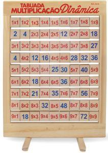 Tabuada Multiplicação Dinâmica com 81 Peças Giratórias