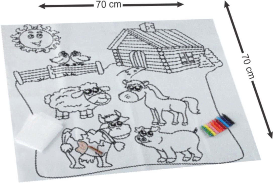 Tapete Pinta e Apaga Fazenda Kit de Pintura