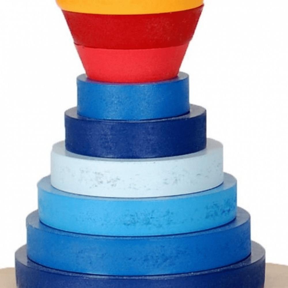 Torre Serial Brinquedo Educativo de Madeira para Montar