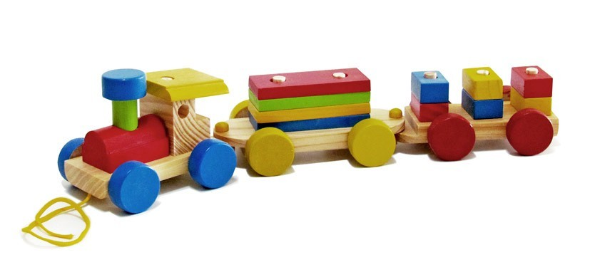 Trem Desmontável Brinquedo de Madeira