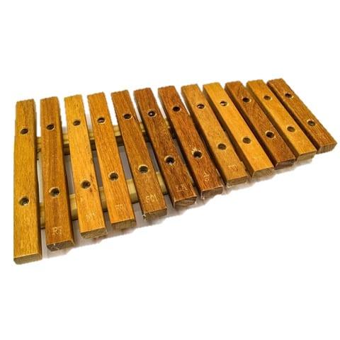 Xilofone 12 Teclas Instrumento Musical Infantil de Madeira