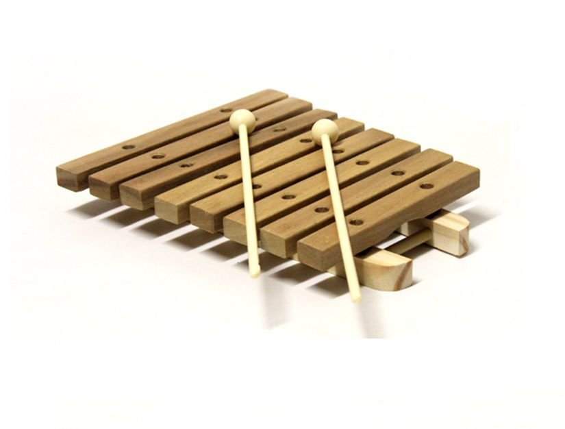 Xilofone 8 Teclas Instrumento Musical Infantil de Madeira