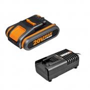 Bateria 2.0AH 20V + Carregador PowerShare WORX