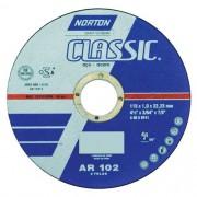 """Disco de Corte Fino para aço Norton Classic AR 102 4.1/2"""" x 1,0mm"""