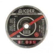 "Disco de Corte para Aço Icder 2T 9"" x 1/8"" x 7/8"""
