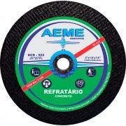 Disco de Corte Refratário Aeme DCR 522 9 x 1/8 x 7/8