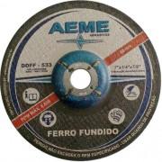 "Disco de Desbaste Ferro Fundido Aeme DDFF 533 7"" x 1/4"" x 7/8"""