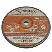 "Disco de Desbaste Zirconado Stilex SDX 710 9"" x 1/4"" x 7/8"""