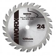 Disco de Serra WA5046 120mm 24 Dentes para Mini Serra Circular WX429/WX439 Worx