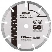 Disco Diamantado WA5048 115mm G60 para Serra Circular WX429/WX439 Worx